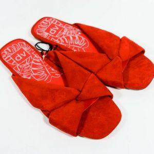 DV Addie Microsuede Knotted Slide Sandals_NWT